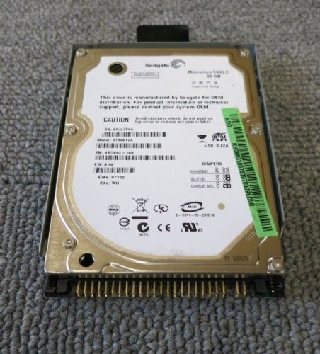 "Seagate ST96812A 9W3882-188 Momentus 5400.2 60GB 5400RPM 8MB 2.5"" ATA-100 HDD"